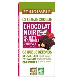 Choco Negro Avellana Frambuesa Ethiquable | 100gr
